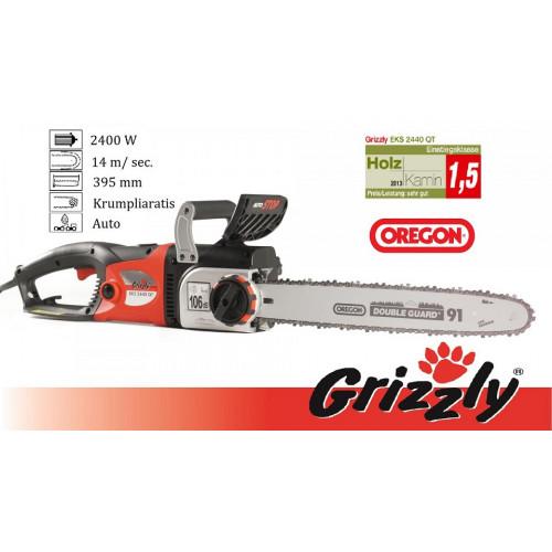 Elektrinis grandininis pjūklas 2400W Grizzly EKS 2440 QT