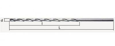 Labai ilgi grąžtai metalui HSS DIN 1869