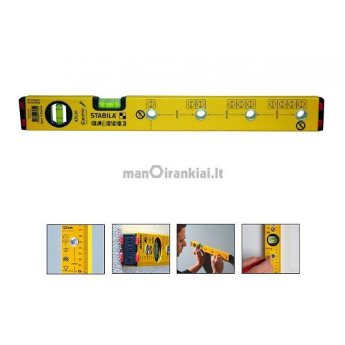 Elektriko gulsčiukas Stabila 70 electric/120 cm
