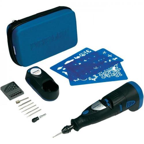 Akumuliatorinis daugiafunkcinis įrankis DREMEL 7700 (7700-15 Hobby) + 15 priedų