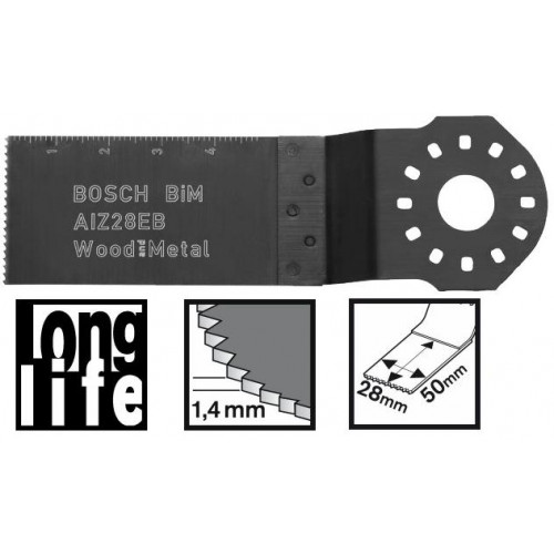 Įpjaunamasis pjūklelis medienai ir metalui Bosch AIZ 28 EB