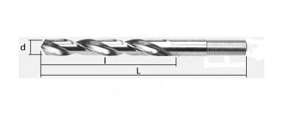 Grąžtai metalui HSS DIN 338 nutekintu kotu