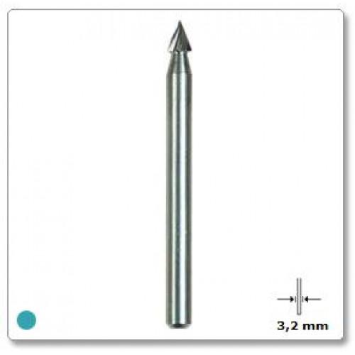 Graviravimo antgalis smailus  3,2 mm Dremel (118)