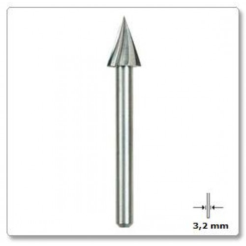 Graviravimo freza trikampė 6,4 mm Dremel (125)