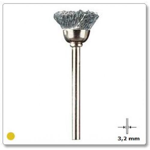 Plieninės vielos šepetys Dremel (442)
