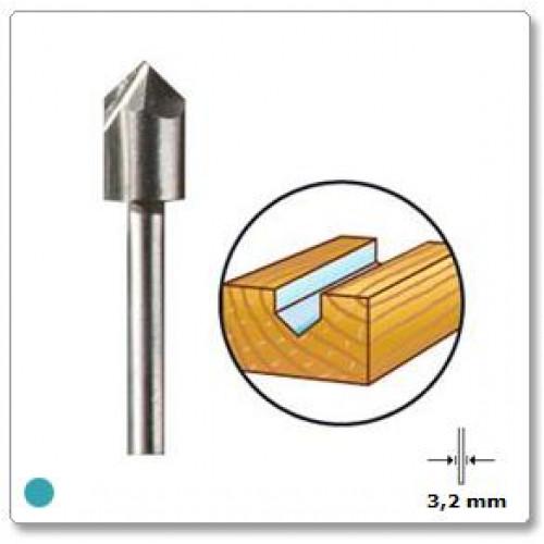 HSS freza V-formos 6,4 mm Dremel (640)