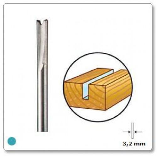 HSS frezavimo antgalis tiesus 3,2 mm Dremel (650)