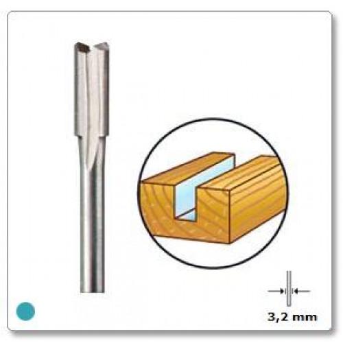 HSS frezavimo antgalis tiesus 4,8 mm Dremel (652)