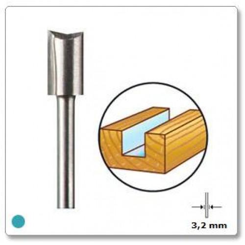 HSS frezavimo antgalis tiesus 6,4 mm Dremel (654)