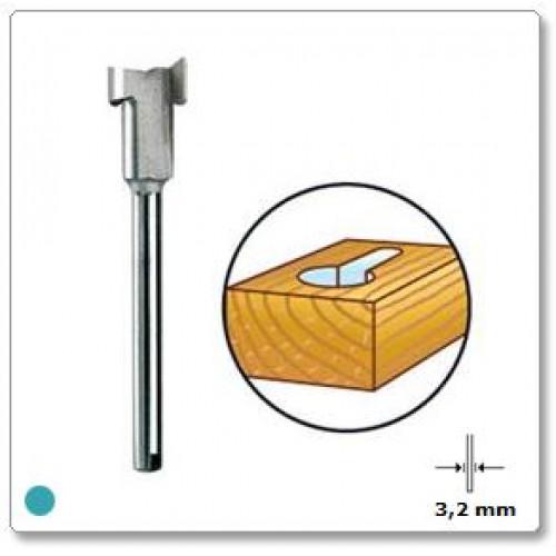 HSS rakto skylutės freza 8 mm Dremel (655)
