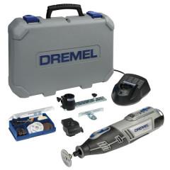 Daugiafunkcinis minigręžtuvas-frezeris Dremel 8200  Li-Ion 10,8 V akumuliatorinis rotacinis įrankis + 45 priedai