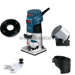 Briaunų frezavimo mašina BOSCH GKF 600 Professional + priedai