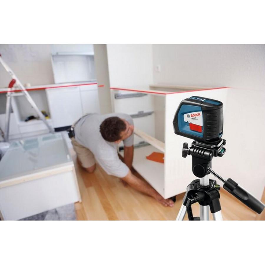kry mini linij lazeris su stovu bosch gll 2 50 stovas bs 150 professional. Black Bedroom Furniture Sets. Home Design Ideas