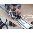 Priedas tvirtinti įrankius prie liniuotės Makita