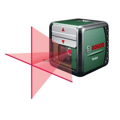 Kryžminis lazerinis nivelyras Bosch Quigo su MMS laikikliu