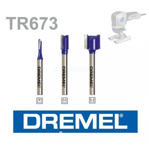 """DREMEL® TRIO-""""¢ tiesių frezavimo antgalių rinkinys (TR673)"""