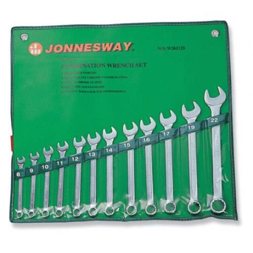 Raktai plokšti-kilpiniai Jonnesway 8-22 mm (12 dalių)