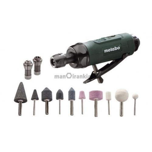 Pneumatinis šlifavimo įrankis su priedais Metabo DG 25