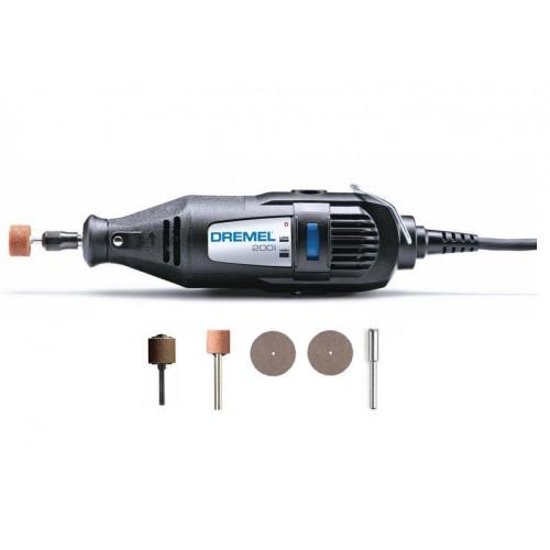 DREMEL 200 Series rotacinis įrankis ir 5 priedai  (200-5)