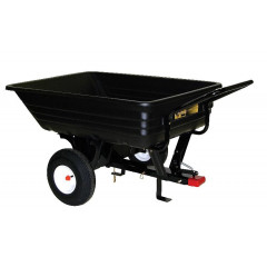 Priekaba traktoriui juoda plastikinė, talpa 227 kg