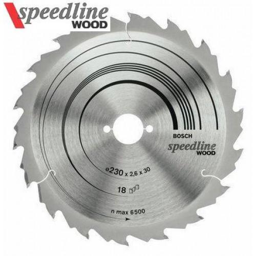Diskas medžiui Bosch Speedline Wood,  18 dantų