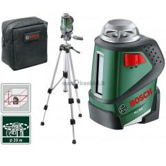 Linijinis lazerinis nivelyras Bosch PLL 360 + Stovas